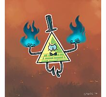 Bill Cipher - Burn (with background) Photographic Print