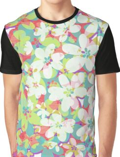 Distressed Floral Fantasy Graphic T-Shirt