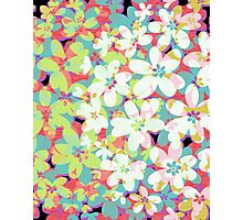 Distressed Floral Fantasy Photographic Print