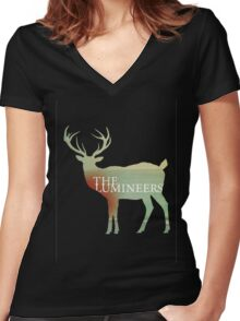 the lumineers Women's Fitted V-Neck T-Shirt