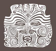 Maori Moko | Tribal Tattoo | New Zealand | Black and White Baby Tee