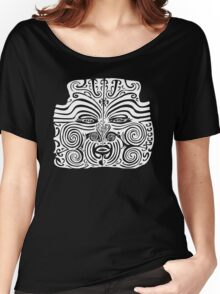 Maori Moko | Tattoo | New Zealand | Black and White Women's Relaxed Fit T-Shirt