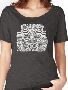 Maori Moko | Tattoo | New Zealand | Black and White Women's Relaxed Fit T-Shirt