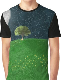 Midnight Meadow Graphic T-Shirt