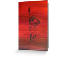 The price of liberty is steep Greeting Card