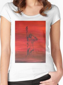 The price of liberty is steep Women's Fitted Scoop T-Shirt