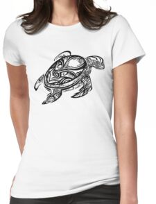 Tribal Turtle Womens Fitted T-Shirt