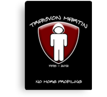 Trayvon Martin - No More Profiling Canvas Print