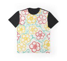 Vibrant, Striking,  Flower Pattern  Graphic T-Shirt