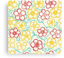 Vibrant, Striking,  Flower Pattern  Canvas Print