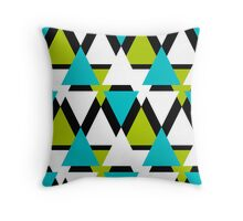 Abstract pattern colorful Triangles Throw Pillow