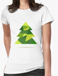 Christmas tree Womens Fitted T-Shirt
