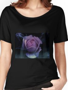 Pink Grunge Rose Women's Relaxed Fit T-Shirt