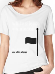 White Silence - Black Lives Matter Women's Relaxed Fit T-Shirt