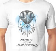 Hand-drawn balloon dream catcher with feathers. Unisex T-Shirt