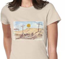 'n Stil, warm Sondagmiddag   A hot Sunday afternoon... Womens Fitted T-Shirt