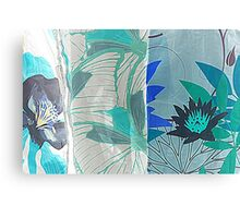 colored fabrics background Canvas Print