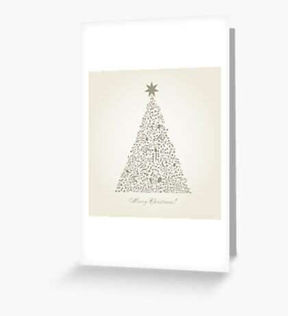 Musical Christmas tree Greeting Card