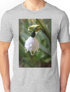 Snowdrop with dew. Unisex T-Shirt