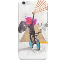 Rainbow child riding a bike iPhone Case/Skin