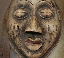 old wooden mask by spetenfia