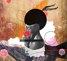 Contemporary fashionistas floral collage by mikath