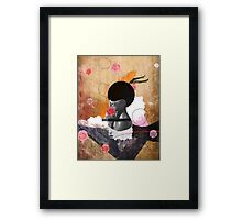 Contemporary fashionistas floral collage Framed Print