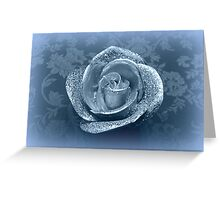candle in the shape of roses Greeting Card