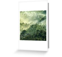 Abstract pattern Green crystals . Greeting Card