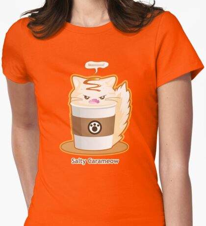 Purrista Pawfee: Salty Caramel Kitty Coffee Womens Fitted T-Shirt
