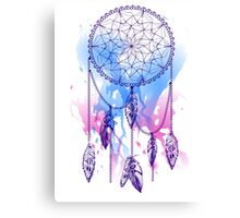 dream catcher with feathers with watercolor effect Canvas Print