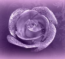 candle in the shape of roses by spetenfia