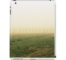 fields in the fog in winter iPad Case/Skin