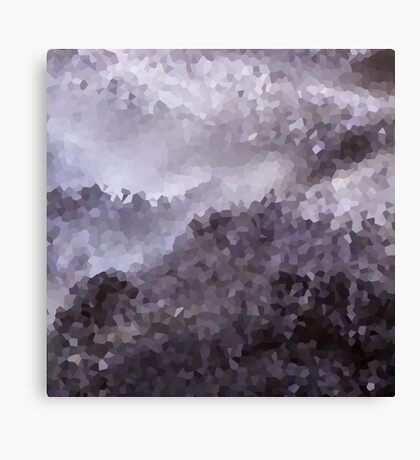 Abstract pattern Gray purple crystals . Canvas Print