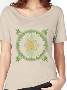 Psychedelic cannabis jungle spirit Women's Relaxed Fit T-Shirt
