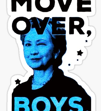 Move Over Boys Sticker