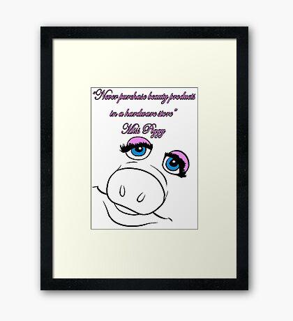 Miss Piggy Framed Print