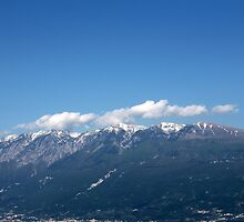 landscape mountain with snow by spetenfia