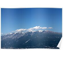 landscape mountain with snow Poster