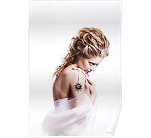 Winter beauty woman portrait Poster