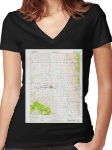 USGS TOPO Map California CA Bishop 296815 1949 62500 geo Women's Fitted V-Neck T-Shirt