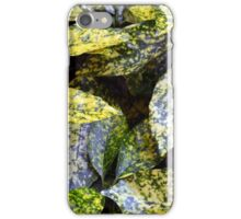 Green leaves with yellow spots texture iPhone Case/Skin