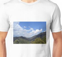 Natural landscape with the hills of Assisi, Italy Unisex T-Shirt