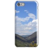 Natural landscape with the hills of Assisi, Italy iPhone Case/Skin