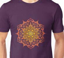 yellow and orange hand drawn mandala Unisex T-Shirt