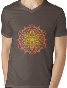 yellow and orange hand drawn mandala Mens V-Neck T-Shirt