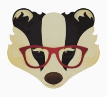 Hipster Badger Kids Tee