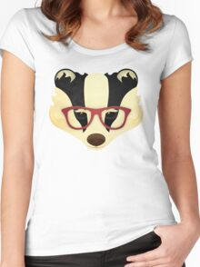 Hipster Badger Women's Fitted Scoop T-Shirt