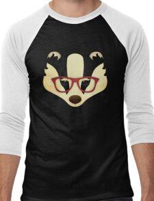 Hipster Badger Men's Baseball ¾ T-Shirt