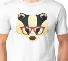 Hipster Badger Unisex T-Shirt